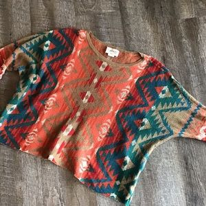denim & supply RALPH LAUREN southwestern top XS S